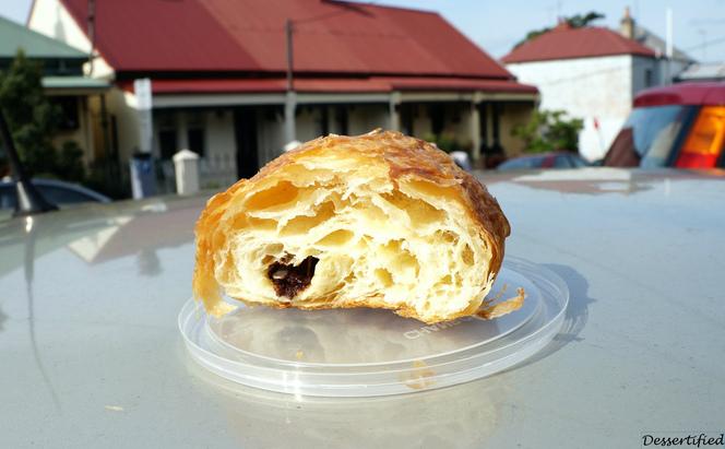 cross shot croissant bakery